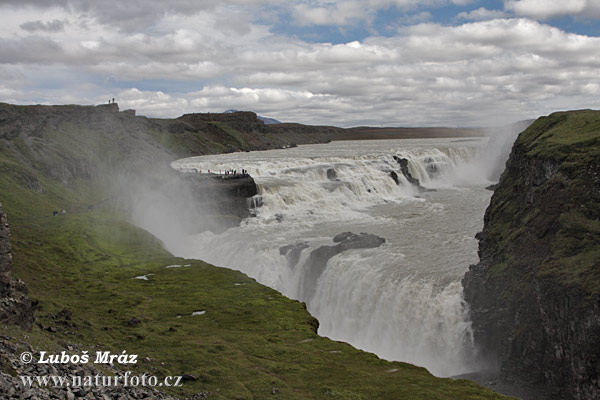 Gullfoss wasserfall (IS)